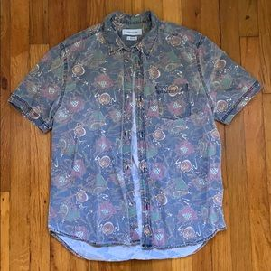 men's urban outfitters button down shirt